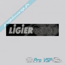Autocollant de plaque d'immatriculation pour ligier xtoo 1 et 2