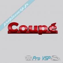 """Logo rouge """" coupé """" pour Aixam Coupé Impulsion et Vision"""