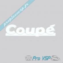 """Logo blanc """" coupé """" pour Aixam Coupé Impulsion et Vision"""