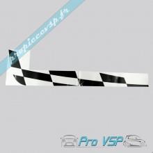 Autocollant damier droit pour Ligier Ixo Team 26
