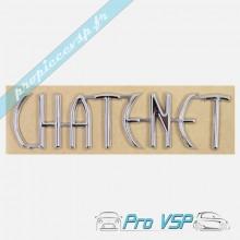 Logo adhésif CHATENET chromé pour CH26 , CH28 , CH30 , CH32 , Sporteevo , Pick-up