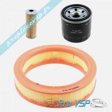 Kit 3 filtres pour moteur yanmar bicylindre