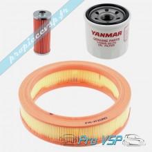 Kit 3 filtres origine pour moteur yanmar bicylindre