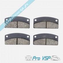 Plaquettes de frein arrière pour microcar virgo 3 mc1 mc2