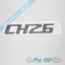 Logo adhésif CH26 chromé pour Chatenet CH26