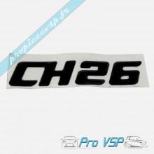 Logo adhésif CH26 noir pour Chatenet CH26