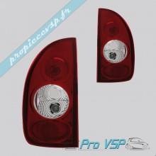 Feux arrière Tuning Dectane rouge / cristal pour Microcar Virgo 1 , 2 , 3