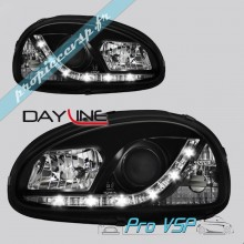 Phares avant Tuning Dayline Devil eyes noir Microcar Virgo 1 , 2 , Chatenet Media , Barooder , Speedino , Casalini Sulkydea , Su