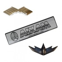 Logo and adhesive